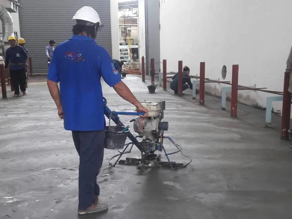 งานขัดเคลือบและตกแต่งพื้น | Techno Plus บริษัทรับซ่อมโครงสร้างอาคาร ระบบกันซึม ระบบเคลือบพื้นผิว